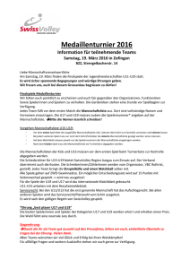 Informationen für Teams am Medaillenturnier