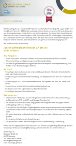 Junior Softwareentwickler C# (m/w)