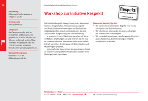 Workshop zur Initiative Respekt!