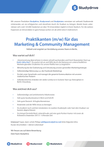 Praktikanten (m/w) für das Marketing & Community