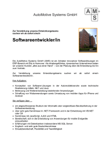 Stellenangebot - Automotive Systems GmbH