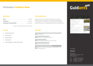 Mediadaten Guidants News