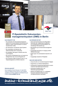 managementsystem (DMS) in Berlin - Das GKV