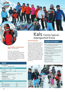 Kals Family Special - Alpengasthof Krone
