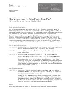 Klean Prep Vormittag - Praxis PD Dr med Daniel Külling