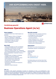 Business Operations Agent (m/w)