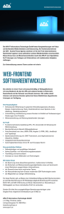 web-frontend softwareentwickler