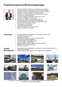 Windenergy Anlagen,Fracht, Transport, Benchmarking, Tender