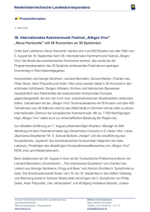 "38. Internationales Kammermusik Festival ""Allegro Vivo"