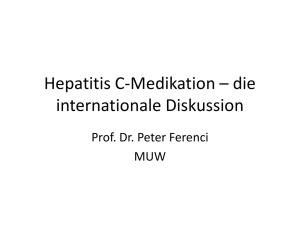 PowerPoint Präsentation Hepatitis C-Medikation