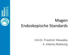 Friedrich Wewalka: Magen - Endoskopische Standards