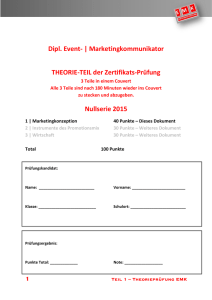 Nullserie 2015_Teil 1 - Marketingkonzeption