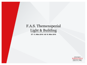 FAS Themenspezial Light & Building