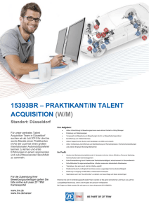15393BR – PRAKTIKANT/IN TALENT ACQUISITION (W/M) Standort