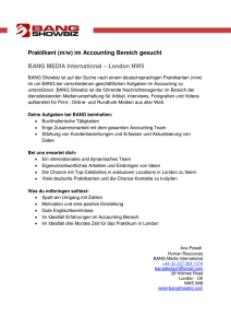 (m/w) im Accounting Bereich gesucht BANG MEDIA International