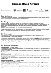Info Awards - Bluesfest Eutin