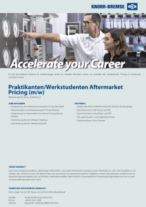 Praktikanten/Werkstudenten Aftermarket Pricing (m/w)