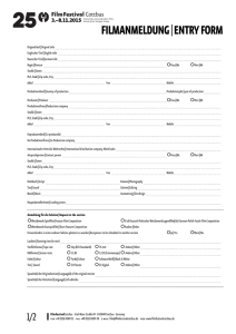 FILMANMELDUNG|ENTRY FORM