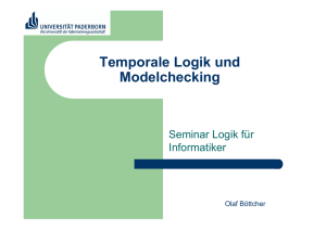 Temporale Logik und Model Checking