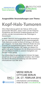 Flyer - 32. Deutscher Krebskongress 2016