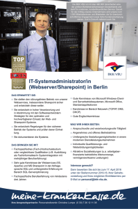 (Webserver/Sharepoint) in Berlin