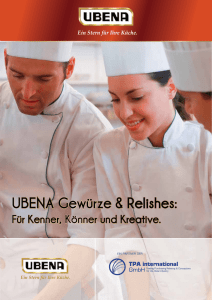UBENA Gewürze & Relishes