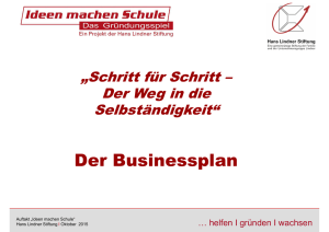 Informationen zum Businessplan