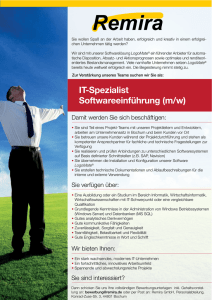 IT-Spezialist Softwareeinführung (m/w)