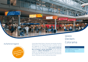 Decken- Colorama - Airport Nürnberg