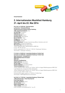 Konzertkalender Internationales Musikfest