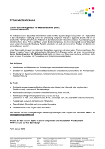 Junior Java Entwickler - HMG Systems Engineering GmbH