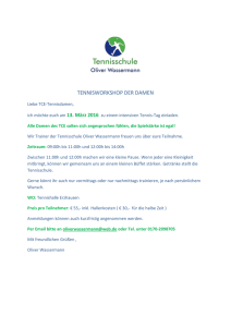 TENNISWORKSHOP DER DAMEN