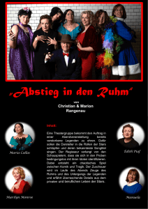 """Abstieg in den Ruhm"" - Theatermacher Elmshorn"