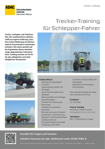 Trecker-Training für Schlepper