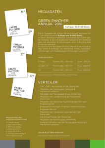 Mediadaten Green Panther Annual 2016
