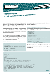 HTML::Display - HTML zum lokalen Browser senden