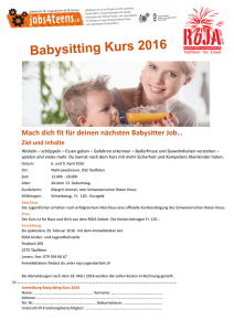 Babysitting Kurs 2016 Flyer