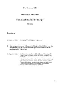 Seminar: Ethnomethodologie