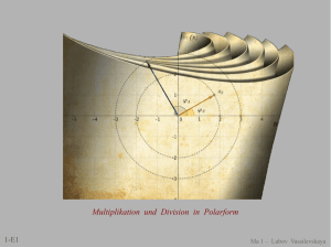 Multiplikation und Division in Polarform