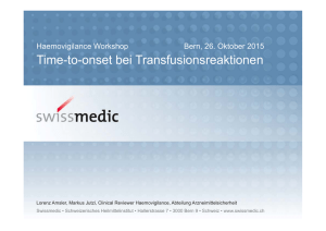 Time-to-onset bei Transfusionsreaktionen
