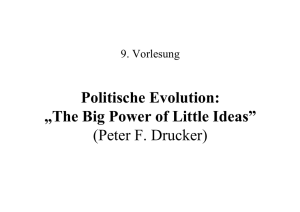 "Politische Evolution: ""The Big Power of Little - Kai"