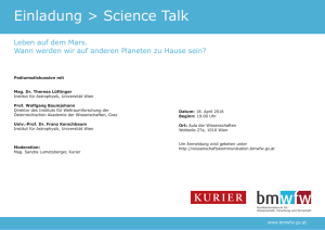 Einladung Science Talk 18. April 2016