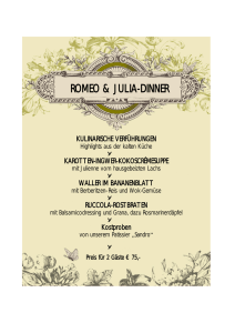 romeo & julia-dinner