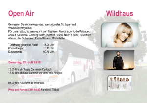 Open Air Wildhaus - Carreisen Cadosch