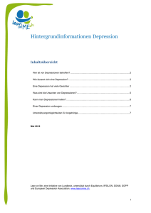 Hintergrundinformationen Depression