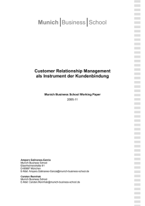Customer Relationship Management als Instrument der