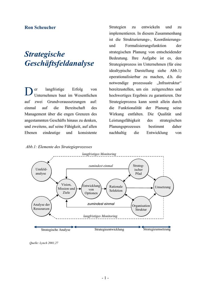 Strategische Geschaftsfeldanalyse