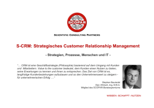 S-CRM: Strategisches Customer Relationship Management