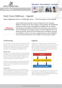 Oracle Fusion Middleware – Upgrade!