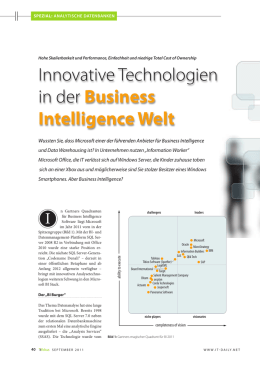 Innovative Technologien in der Business